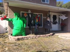 nightmare before christmas outdoor halloween decor i love it