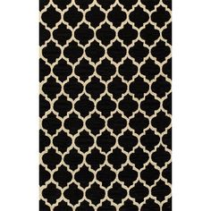 Simple Morocco Hand-Tufted Rug - Black $400 8x10