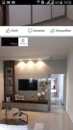 31 veces he visto estas serenas muebles minimalistas. Tv Unit Decor, Tv Wall Decor, Tv Wall Design, House Design, Deco Tv, Tv Unit Furniture Design, Tv Furniture, Modern Tv Wall Units, Modern Tv Cabinet