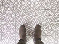 Tweeford Grey Vintage Moroccan Victorian Encaustic Style Wall Floor Tiles in Home, Furniture & DIY, DIY Materials, Flooring & Tiles Tiled Hallway, Hallway Flooring, Bedroom Flooring, Hall Tiles, Tile Stairs, Modern Flooring, Grey Flooring, Vinyl Flooring, Flooring Tiles