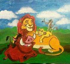 The Lion King painting I did