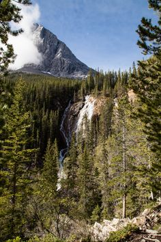 Grassi Lakes, Waterfall in Canmore, Alberta, Canada #Canmore #Banff