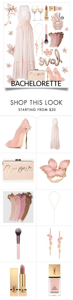 """""""Bachelorette Party"""" by simpleautumn ❤ liked on Polyvore featuring Casadei, Givenchy, BCBGMAXAZRIA, Stephen Webster, Gucci, Anita Ko, Yves Saint Laurent and RabLabs"""