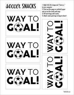 The Chic Site, Soccer printable