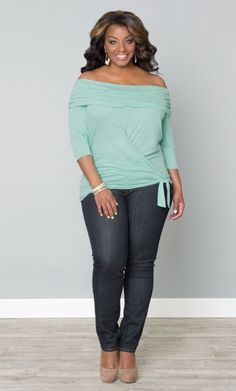 Blue off the shoulder sweater top Plus Size Style Inspiration Womens Apparel #UNIQUE_WOMENS_FASHION