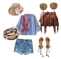 """""""натуральный стиль"""" by tushiaass on Polyvore featuring WithChic, Hollister Co., Diane Von Furstenberg and Ray-Ban"""