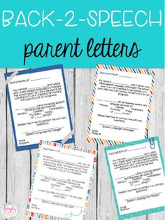 FREE Editable Back 2 Speech Parent Letters by Simply Speech!