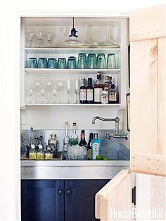 tidy little closet bar Photo: Francesco Lagnese