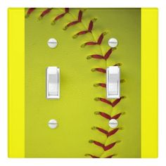 Shop Dayglo Yellow Softball Light Switch Cover created by BruceDesigns. Personalize it with photos & text or purchase as is! Softball Photos, Softball Stuff, Girls Softball, Volleyball Players, Girls Basketball, Volleyball Drills, Volleyball Gifts, Volleyball Quotes, Softball Bedroom