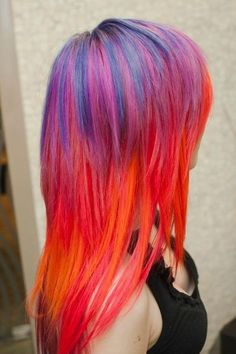Sunset Hair Chalk Professional grade 4 sticks by ToriAndTheBees Funky Hairstyles, Pretty Hairstyles, Female Hairstyles, Summer Hairstyles, Flame Hair, Color Fantasia, Sunset Hair, Coiffure Hair, Hair Chalk