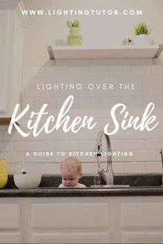 lighting over a kitchen sink ideas - learn about pendants, recessed lighting, chandeliers and more. #kitchenlighting #lightingoverasink Ikea Lighting, Kitchen Lighting Fixtures, Home Lighting, Lighting Ideas, Light Fixtures, Home Design, Kitchen Sink, Kitchen Island, Kitchen Decor