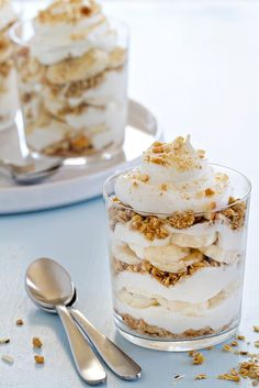 Pin for Later: 50+ Recipes Using Your Grocer's Most Versatile Fruit (Bananas) Banana Pudding Breakfast Parfaits Get the recipe: banana pudding breakfast parfaits