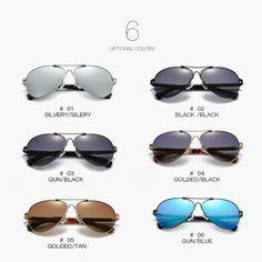 Ochelari de soare din aliaj aluminiu-magneziu, polarizati si rezistenti la soc, impotriva prafului, model sport 9812 Ray Bans, Sunglasses, Model, Fashion, Moda, Fashion Styles, Scale Model, Sunnies