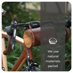 Walnut Studiolo Values Natural Tan, Natural Leather, Leather Bicycle, Oregon Usa, Bicycle Accessories, Natural Materials, Modern Design, The Originals, How To Make