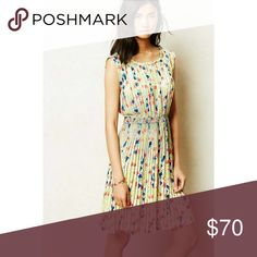 Baraschi Meadowlight floral pleated dress Worn & in great condition. No flaws.   C6121217 Anthropologie Dresses