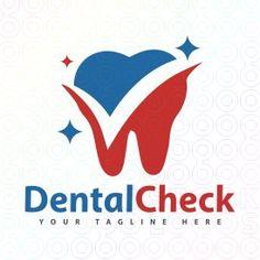 Exclusive Customizable Tooth Logo For Sale: Dental Check | StockLogos.com