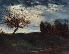 Maurice de Vlaminck - PAYSAGE AVEC ARBRE, oil on...