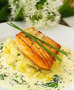 Receta de Salmon con Salsa de Ciboulette | Cocinero Online
