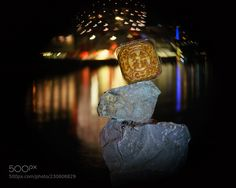 moon cake with blur city lights by leowang302
