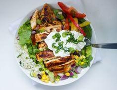 Gluten-Free Chipotle's Chicken Burrito Bowl with Cilantro Lime Rice - recipe