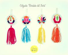 Mexican Embroidery, Holiday Ornaments, Craft Items, Cute Art, Embroidery Stitches, Fiber Art, Tassels, Diy And Crafts, Weaving