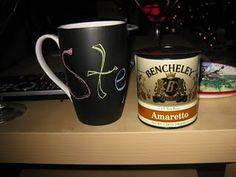 DIY  chalkboard mug for Christmas gifts
