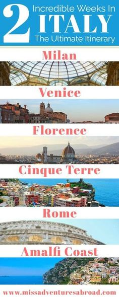 2 Week Italy Itinerary - I'd sacrifice Milan and Florence for more boot and wine, also huge yes on day trip to Murano.