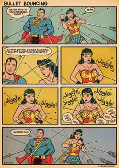 superman-and-wonder-woman-discuss-bullet-bouncing-in-humorous-comic 600×842 pixels