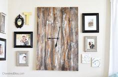 DIY Large Wooden Clock