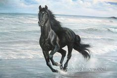 "Stretched Framed Wall Art Cheap Animal Horse Painting, Size: 36"" x 24"", $128. Url: http://www.oilpaintingshops.com/stretched-framed-wall-art-cheap-animal-horse-painting-3135.html"
