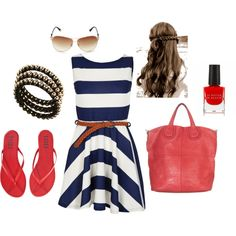Nautical Stripes & Red, created by darling-nikki-too