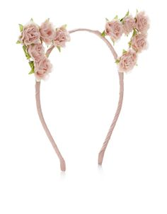 b7c06f91b9d13 This pretty Alice band is crafted with cat ears and embellished with fabric  flowers. Sannic · Accessories