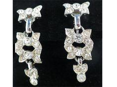 Kramer of NY Rhinestone Drop Earrings ~ Bows of Sparkle! by MarlosMarvelousFinds, $29.99