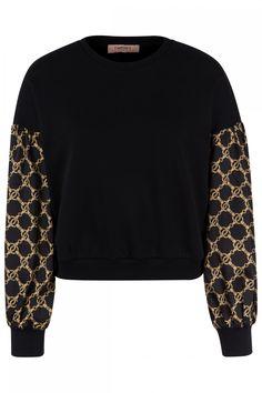 Twin Set Damen Pullover mit Kettendesign Schwarz | SAILERstyle Twin Set, Elegant, Pullover, Sweatshirts, Sweaters, Design, Fashion, Knit Jacket, Necklaces