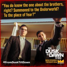 From Dusk Till Dawn: The Series | REPIN if you love the Gecko Brothers (Zane Holtz & DJ Cotrona) via facebook.com
