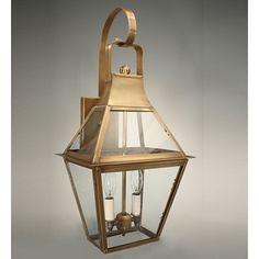 Northeast Lantern Uxbridge 2 Light Outdoor Wall Lantern Finish: Dark Brass, Shade Type: Clear