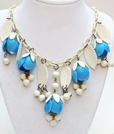 Vintage 1930's Celluloid Necklace Dripping with by toledanobohemia