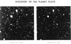This image is a faithful digitisation of a unique historic image, the Pluto discovery plates. The photographs were taken by Clyde Tombaugh at the Lowell Observatory.