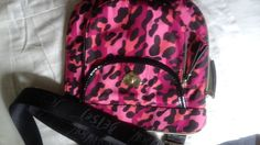 Betsey Johnson Nylon Crossbody multi colored Cheetah Print pink / black in Clothing, Shoes & Accessories, Women's Handbags & Bags, Handbags & Purses | eBay