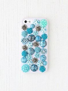 f4120b09ddef Flower iPhone 4 4S or 5 Case at Free People Clothing Boutique Cool Iphone  Cases