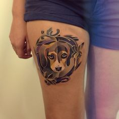 And this sad little pup: | The 26 Coolest Animal Tattoos From Russian Artist Sasha Unisex