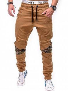55228251d  23.93 Men s pants large size fashion camouflage sitching solid color pants