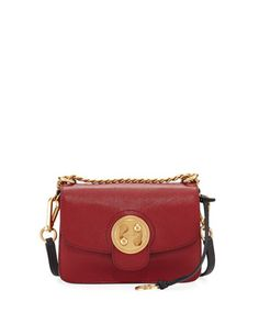 Mily+Small+Leather+Shoulder+Bag+by+Chloe+at+Bergdorf+Goodman. | $1690 SALE: $1183 | Colors: Red, Beige