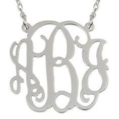 ** SPECIAL ** Jordann Jewelry Monogram Necklace - 1.25 Inch ** ILJA FAVORITE **   I Love Jewelry Auctions