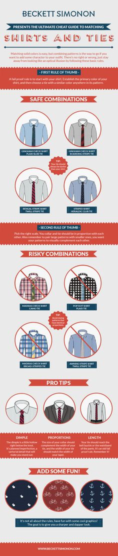Shirt and tie guide.