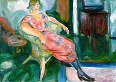 Edward Munch - Model in a wicker chair