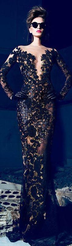 时尚Style(237)-Nicolas Jebran Couture F/W 2013-2014 jaglady_香の诱 - 美丽鸟
