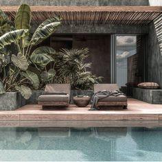 Explore the shores of the Red Sea in Egypt from Casa Cook El Gouna. Open Floor Plans, Style Bali, Exterior Design, Interior And Exterior, Casa Cook Hotel, Casas Magnolia, Natural Interior, Pool Designs, Interior Architecture