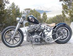 Photo of 1966 Harley Shovelhead Bobber Motorcycle named AC6 by Trent of Atomic Custom.