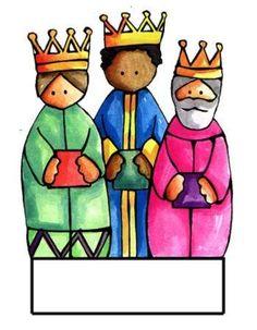 reyes magos.    www.lacasainfantil.com/belenes/belen-de-papel-con-mucho-color